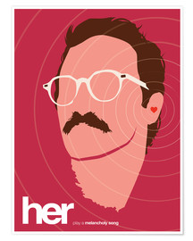 Golden Planet Prints - Her movie inspired minimalist art print