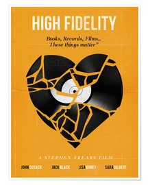 Poster  High fidelity Minimalist art movie inspired - Golden Planet Prints