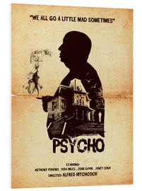 Forex  Psycho movie inspired hitchcock silhouette art print - Golden Planet Prints
