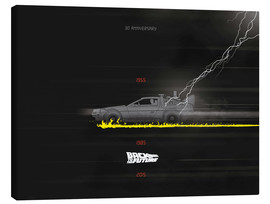 Canvas print  30th anniversary Back to the future movie inspired art - Golden Planet Prints