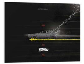 Foam board print  30th anniversary Back to the future movie inspired art - Golden Planet Prints