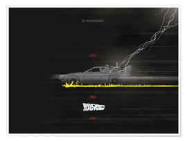 Premium poster 30th anniversary Back to the future movie inspired art