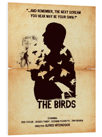 Golden Planet Prints - The birds movie inspired hitchcock silhouette art print