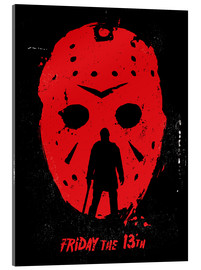 Acrylic print  Friday the 13th - Golden Planet Prints