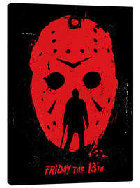 Canvas print  Friday the 13th - Golden Planet Prints