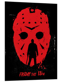 Foam board print  Friday the 13th - Golden Planet Prints