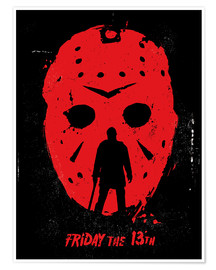 Premium poster Friday the 13th movie Jason movie inspired illustration