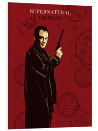 Golden Planet Prints - Crowley supernatural tv serie inspired illustration