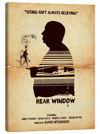 Golden Planet Prints - Rear window movie inspired hitchcock silhouette art print