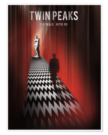 Poster Twin peaks illustration retro tv serie inspired art print