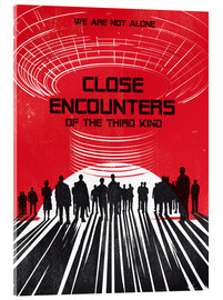 Golden Planet Prints - Close encounters of the third king movie inspired art print