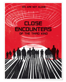 Premium poster  Close encounters of the third king movie inspired art - Golden Planet Prints
