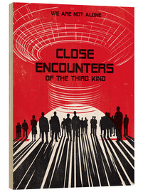 Wood print  Close encounters of the third kind - Golden Planet Prints