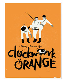 Premium poster Clockwork orange movie inspired art