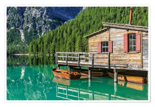 Premium poster Braies - South Tyrol, Italy