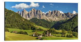 Aluminium print  Funes Valley, Dolomites, South Tyrol - Achim Thomae