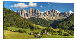 Canvas print  Funes Valley, Dolomites, South Tyrol - Achim Thomae