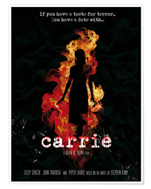 Premium poster Carrie horror movie inspired art