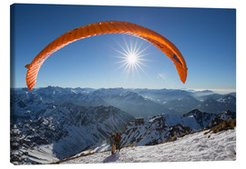 Canvas print  paragliding start - Thomas Klinder