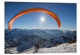 Foam board print  paragliding start - Thomas Klinder