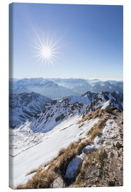 Canvas print  View from Nebelhorn - Thomas Klinder