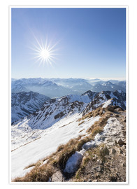 Premium poster  View from Nebelhorn - Thomas Klinder