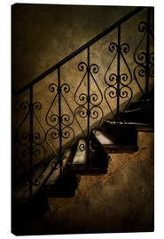Canvas print  Old staircase with ornamented handrail - Jaroslaw Blaminsky