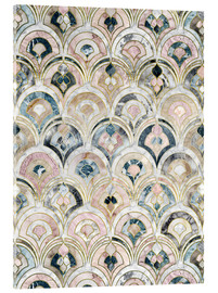 Acrylic print  Art Deco Marble Tiles in Soft Pastels - Micklyn Le Feuvre
