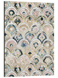 Alu-Dibond  Art Deco Marble Tiles in Soft Pastels - Micklyn Le Feuvre