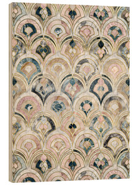 Wood  Art Deco Marble Tiles in Soft Pastels - Micklyn Le Feuvre
