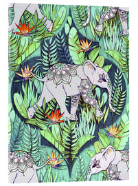 Acrylic glass  Little Elephant on a Jungle Adventure - Micklyn Le Feuvre