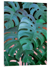 Micklyn Le Feuvre - Monstera Love in Teal and Emerald Green