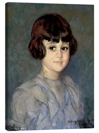 Canvas print  Portrait of his niece - Ignacio Zuloaga Zabaleta