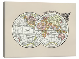 Canvas print  Retro Cycling world explorer - Nory Glory Prints