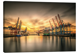 Canvas  Waltershofer Hafen V - PhotoArt Hartmann