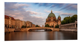 Foam board print  Berlin Cathedral - golden hour - Photovojac