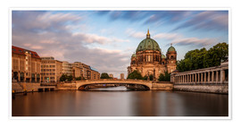 Premium poster Berlin Cathedral - golden hour