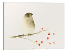 Aluminium print  Tiny Bird and Berries - Dearpumpernickel