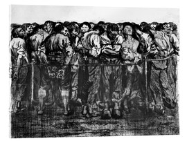 Acrylic glass  The prisoners - Käthe Kollwitz