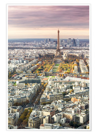 Premium poster Paris from above in autumn