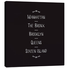 Canvas print  New York City boroughs - Jaysanstudio