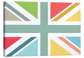 Canvas  Modern Union Jack - Jaysanstudio