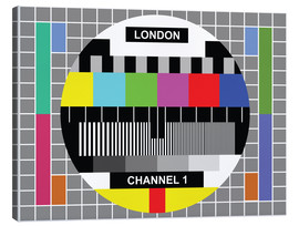 Canvas print  London TV channel 1 - Jaysanstudio