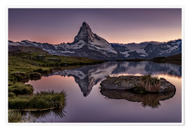 Poster  Sunset at Matterhorn - Achim Thomae