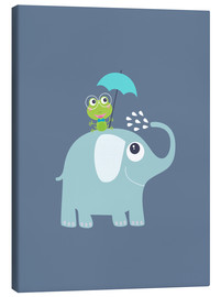 Canvas print  One frog and one elephant - Jaysanstudio