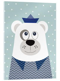 Acrylic print  Bear sailor nautical - Jaysanstudio