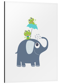 Aluminium print  Frogs and elephant - Jaysanstudio