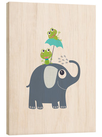 Wood  Frogs and elephant - Jaysanstudio