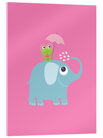 Jaysanstudio - One frog and one elephant pink