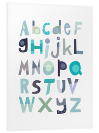 Foam board print  Blue alphabet - Jaysanstudio